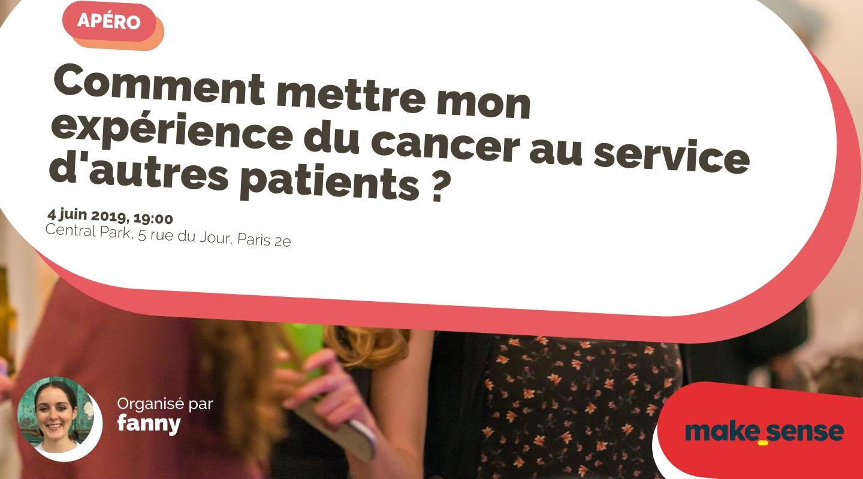 Image of the event : Comment mettre mon expérience du cancer au service d'autres patients ?
