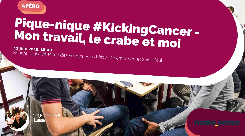 Image de l'événement : Pique-nique #KickingCancer - Mon travail, le crabe et moi