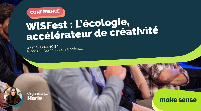 Image de l'événement : WISFest : L'écologie, accélérateur de créativité