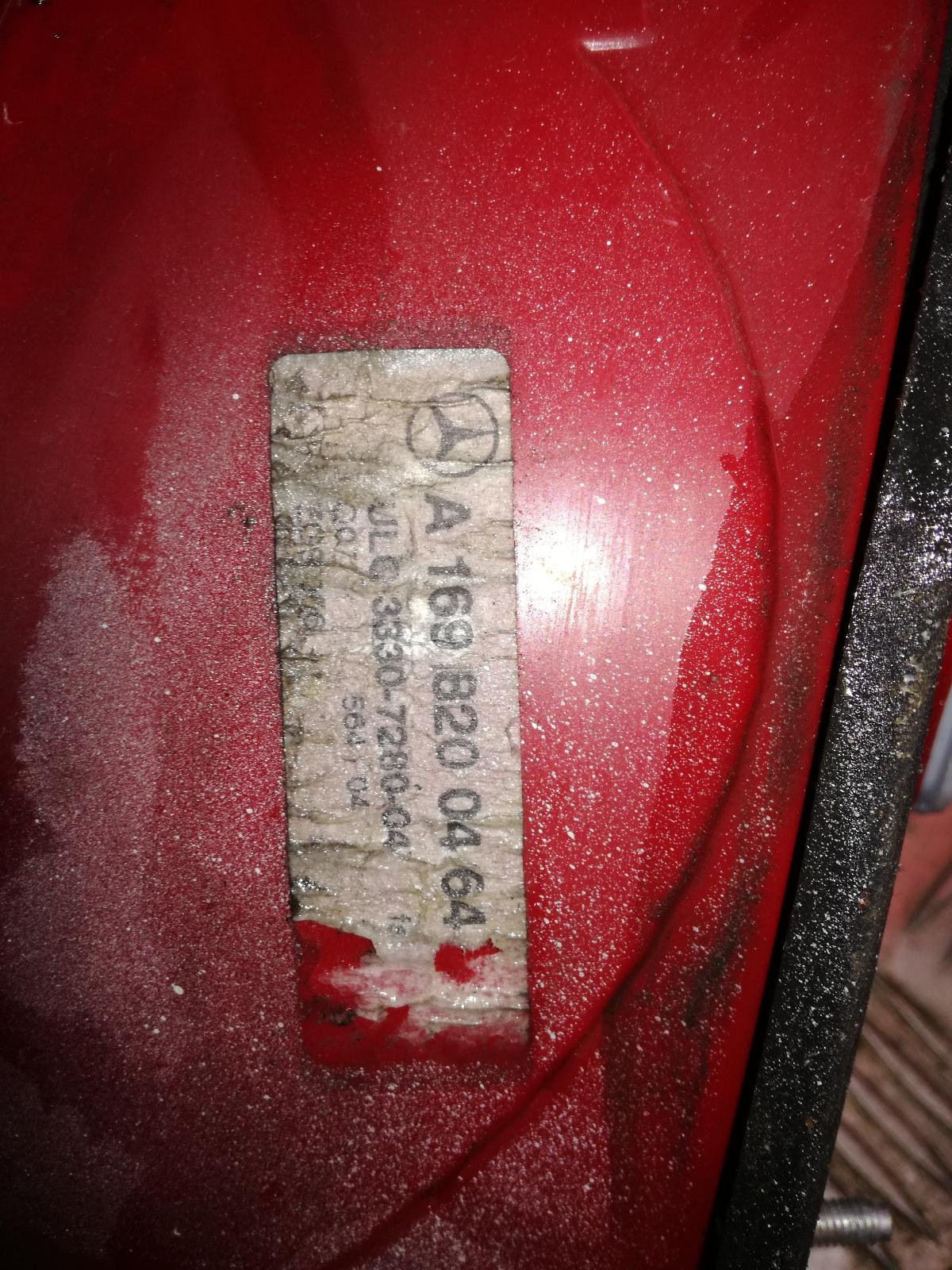 View Auto part R Taillight MERCEDES A CLASS 2006