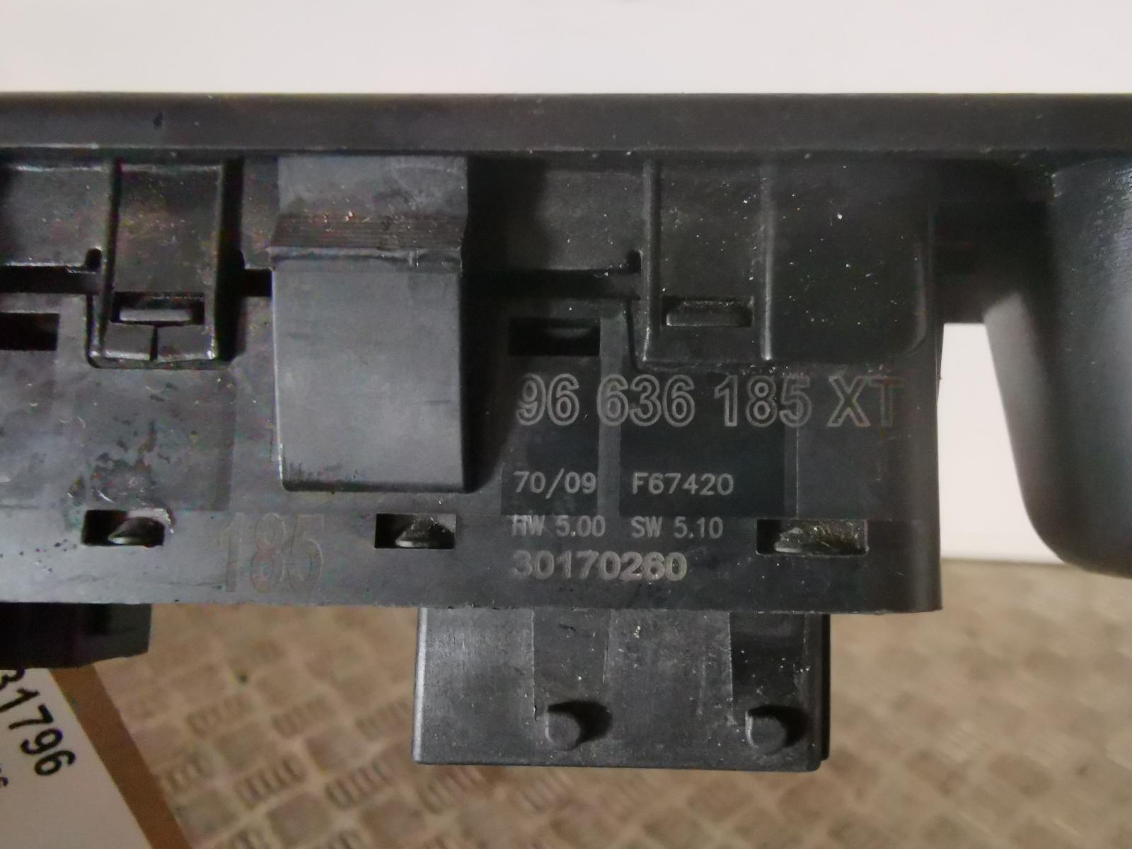 View Auto part Elect. Window Switch CITROEN C3 PICASSO 2009