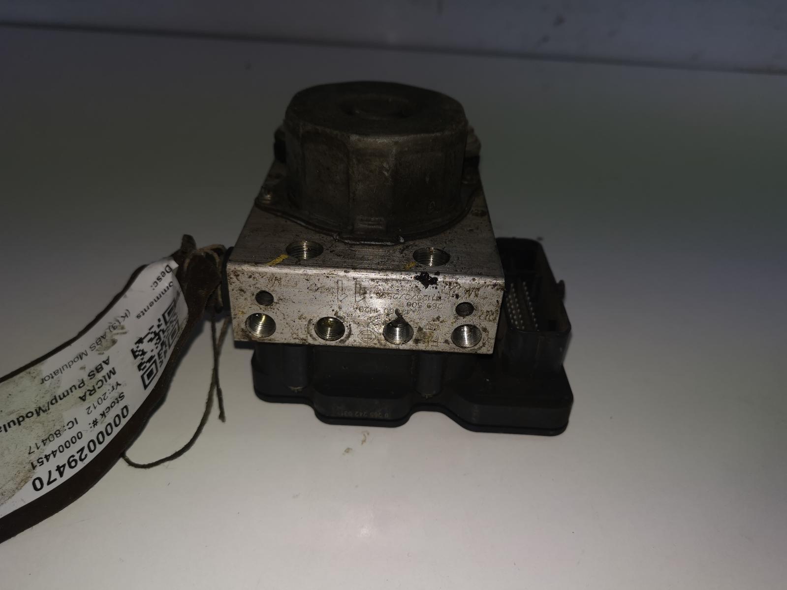 View Auto part ABS Pump/Modulator NISSAN MICRA 2012