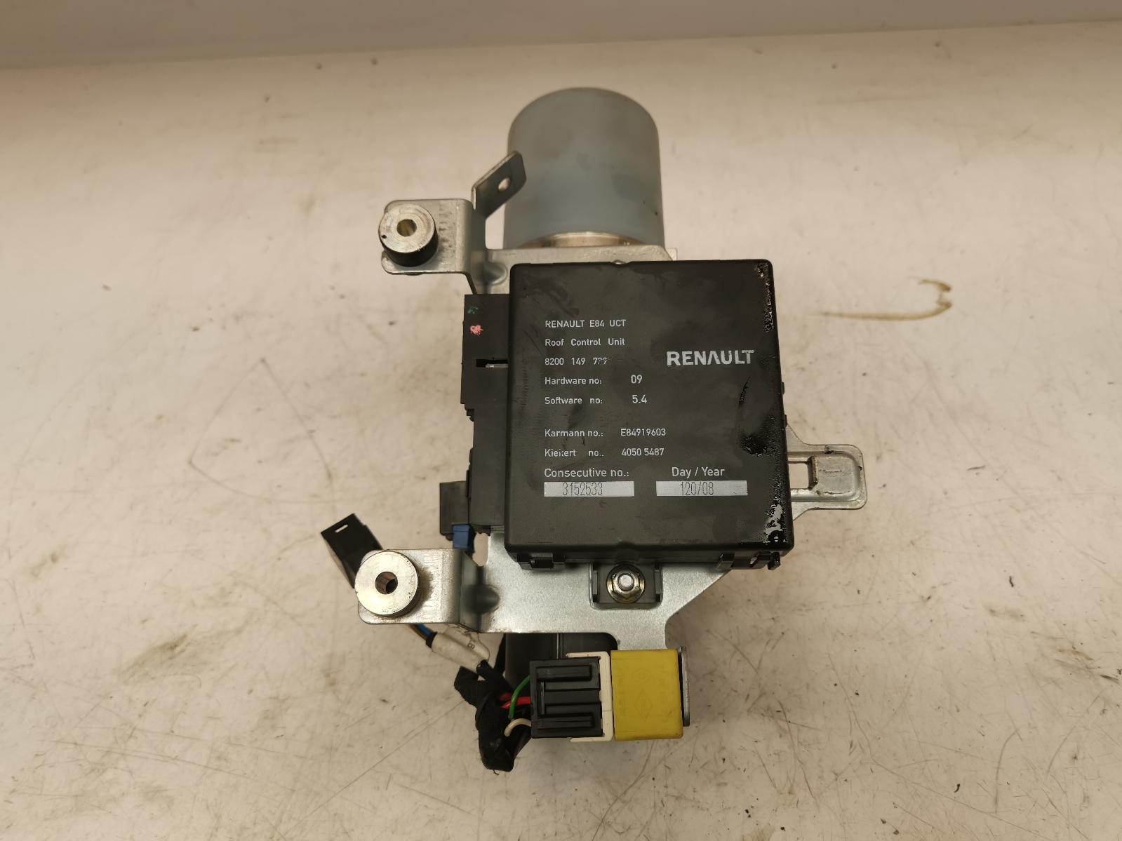 View Auto part Convertible lift motor RENAULT MEGANE 2006