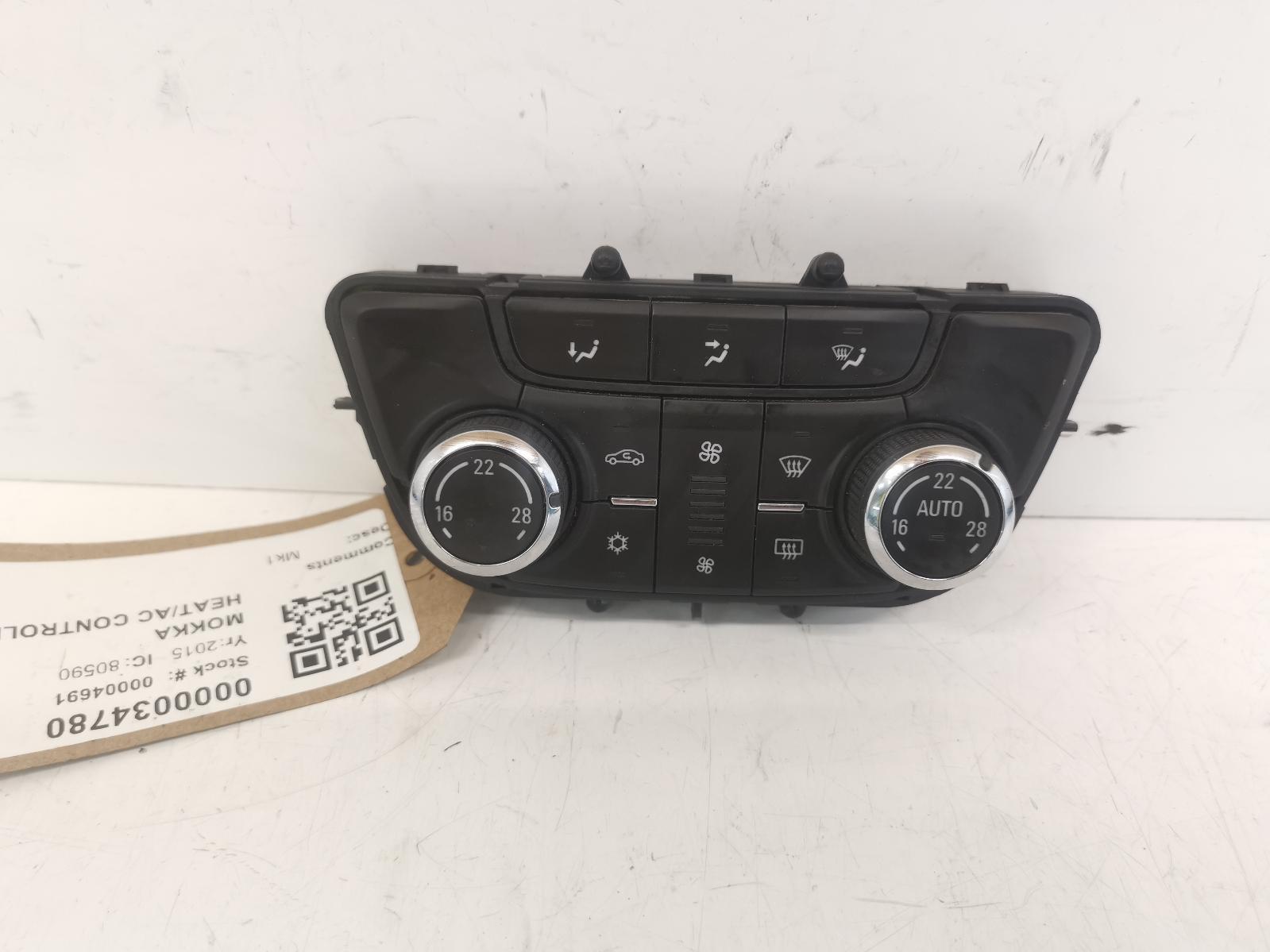 View Auto part Heater/AC Controller VAUXHALL MOKKA 2015