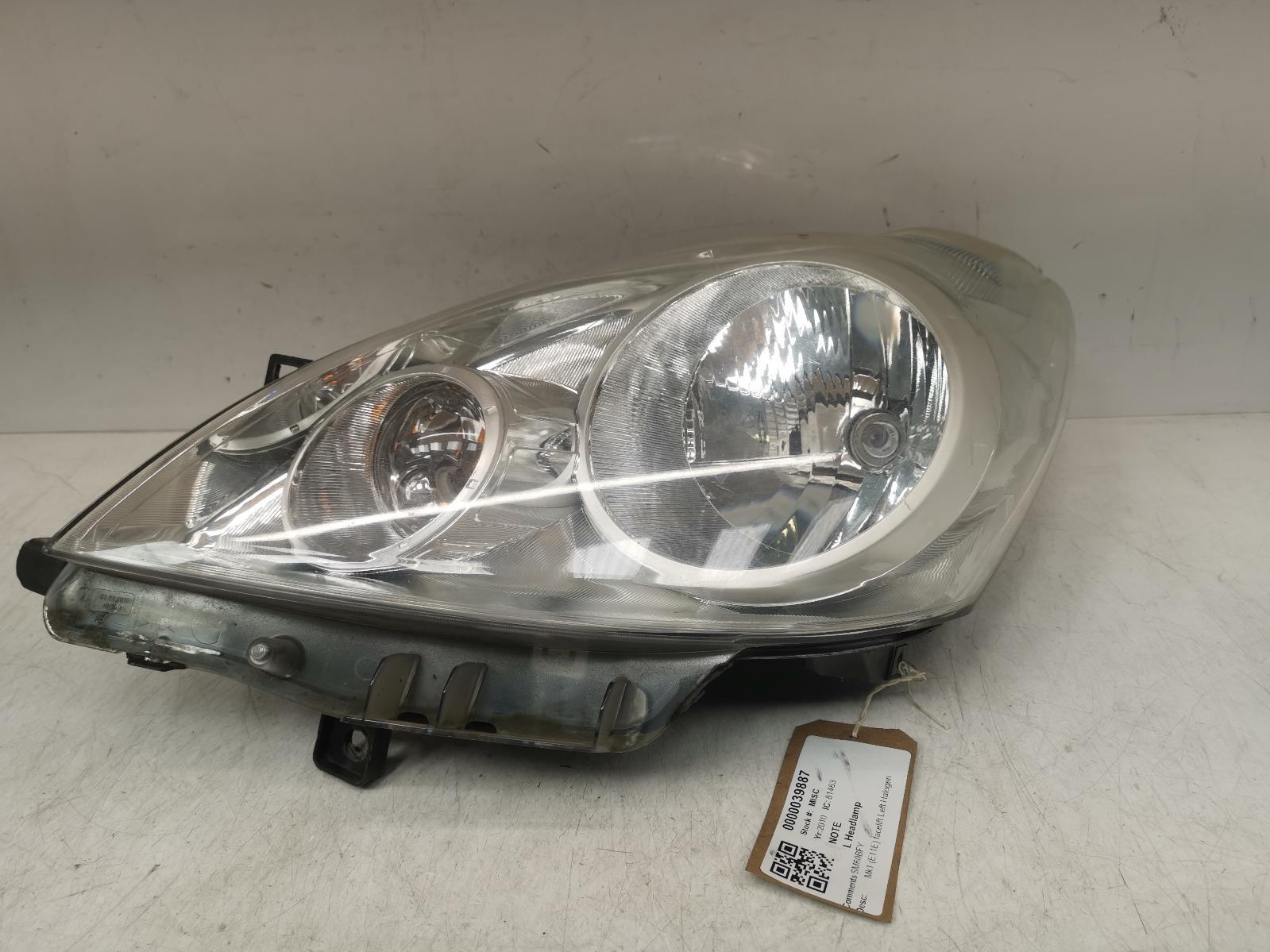 View Auto part L Headlamp NISSAN NOTE 2010