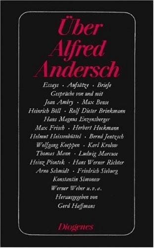 Über Alfred Andersch.