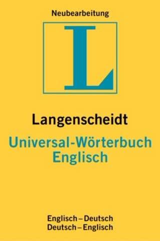Langenscheidts Universal-Wörterbuch, Englisch
