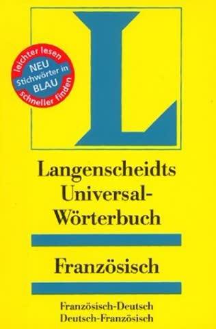 Langenscheidts Universal-Wörterbuch, Französisch