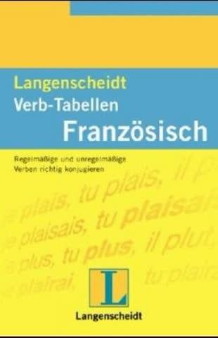 Langenscheidts Verb-Tabellen, Französisch