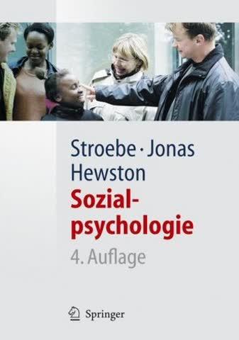 Sozialpsychologie. Eine Einführung (Springer Lehrbuch)