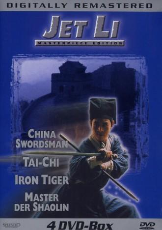 Jet Li 4 DVD-Box (4 DVDs) : China Swordsman - Tai-Chi - Iron Tiger - Master der Shaolin