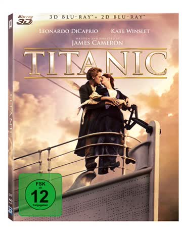 Titanic Combo Blu-ray 3D + Blu-ray Limited Edition SteelBook (Import)