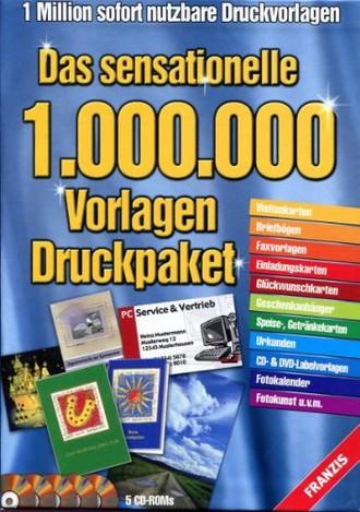 Das sensationelle 1.000.000 Vorlagen Druckpaket - 1 Million sofort nutzbare Druckvorlagen - Das ultimative Designvorlagenpaket mit 5 CD-ROMs und mehr als 1 Million Vorlagen