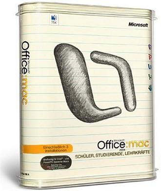 Microsoft Office 2004 Mac für Schüler, Studenten und Lehrer