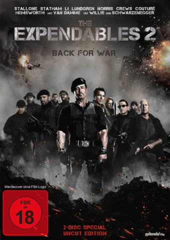 The Expendables 2 - Back For War - SE (uncut) (DVD) (FSK 18)