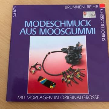Modeschmuck aus Moosgummi. Mit Vorlagen in Originalgröße.