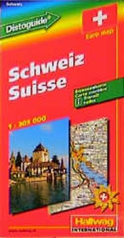 Hallwag Straßenkarten, Schweiz (Hallwag-Karten)