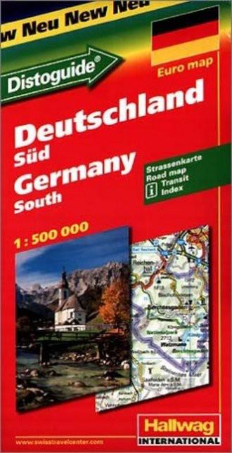 Hallwag Straßenkarten, Deutschland, Süd. 1:500.000