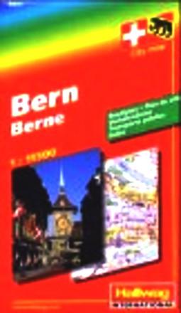 Bern 1 : 13 000 & Agglomeration 1 : 15 000. Stadtplan. Verkehrslinien. Hotels. Index. (City Map) (Hallwag-Stadtpläne)