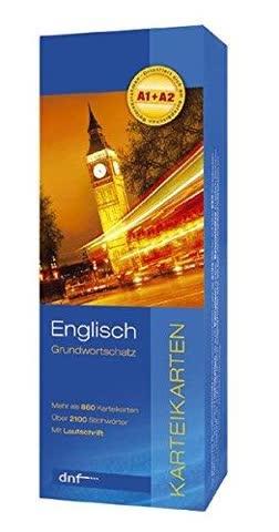 Englisch Grundwortschatz: 860 Karteikarten, über 2100 Stichwörter (mit Lautschrift)