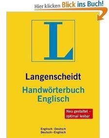 Langenscheidts Handwörterbuch Englisch.