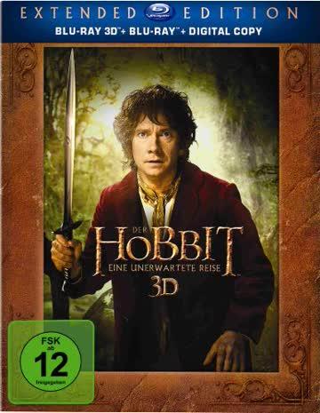 Der Hobbit - Extended Edition (3D Vers. / 5 Discs) (Blu-ray)