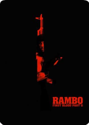 Rambo II First Blood Part II Exclusive Steelbook Blu-Ray (UK Import mit deutscher Tonspur)