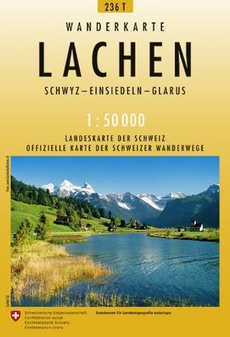 236T Lachen Wanderkarte: Schwyz - Einsiedeln - Glarus