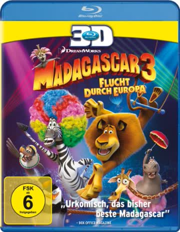Madagascar 3 - Flucht durch Europa [3D Blu-ray]