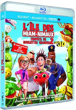 Cloudy With A Chance Of Meatballs 2 - Tempête de boulettes géantes 2 : L'île des miam-nimaux (Blu-ray 3D+2D+DVD