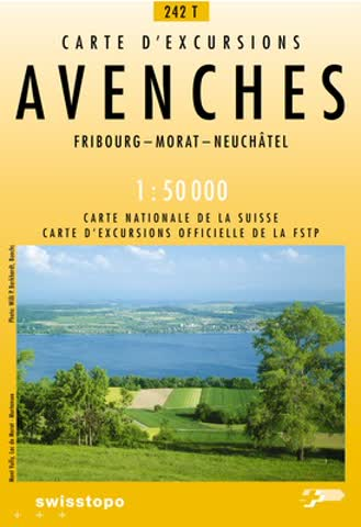242T Avenches Wanderkarte: Fribourg - Morat - Neuchâtel