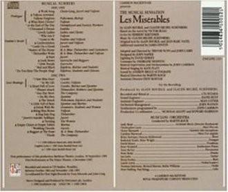 Various - Les Misérables (Original London Cast, Gesamtaufnahme)
