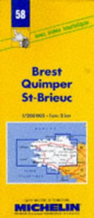 Brest, Quimper, St-Brieuc (Michelin Maps)