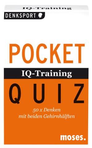 IQ-Training. Pocket Quiz: 50 x Denken mit beiden Hirnhälften