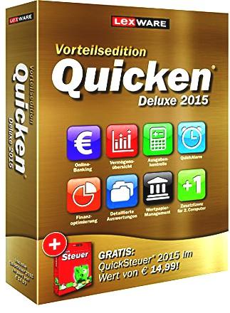 Lexware Quicken Deluxe 2015 Vorteilsedition - Ihr persönlicher Finanzmanager