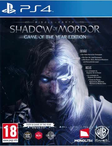 Mittelerde Mordors Schatten PS4 GOTY A T