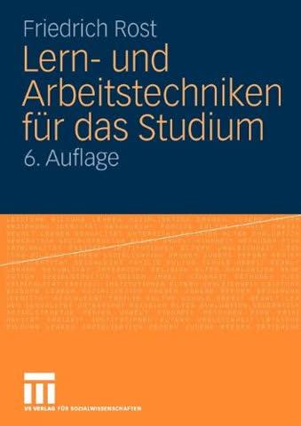 Lern- und Arbeitstechniken für das Studium (German Edition)