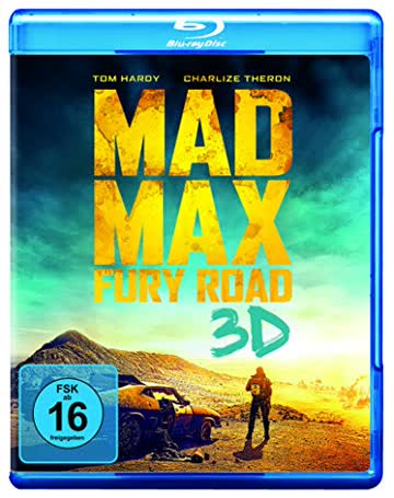 Mad Max: Fury Road 3D (FSK 16 Jahre) Blu-ray 3D