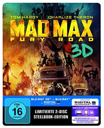 Mad Max: Fury Road Steelbook (exklusiv bei Amazon.de) [3D Blu-ray] [Limited Edition]