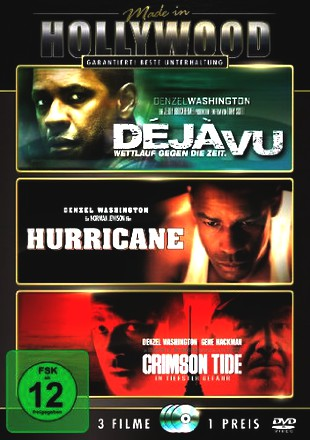 Déjà Vu - Wettlauf gegen die Zeit / Hurricane / Crimson Tide - In tiefster Gefahr [3 DVDs]