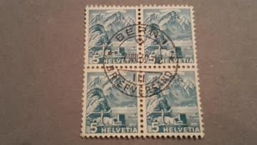 1936 Helvetia Viererblock Zs-Nr: 202z