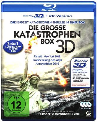 Die große Katastrophenbox 3D - Boxset mit 3 3D Blu-rays: Eiszeit - New York 2012, Prophezeiung der Maya, Armageddon 2012 [3D Blu-ray + 2D Version]