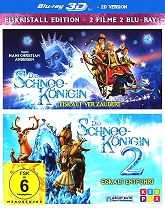 Die Schneekönigin 3D 1+2 - Box [2 Blu-rays 3D]