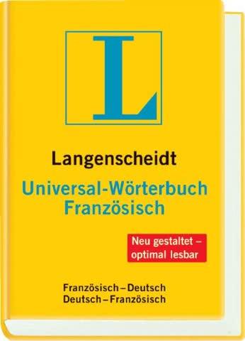 Langenscheidt Universal-Wörterbuch Französisch: Französisch-Deutsch/Deutsch-Französisch