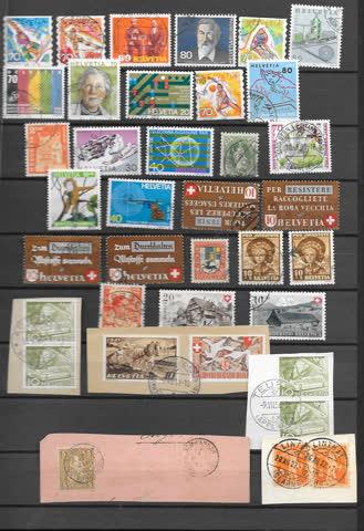 Lot neue und alte Schweizer Briefmarken