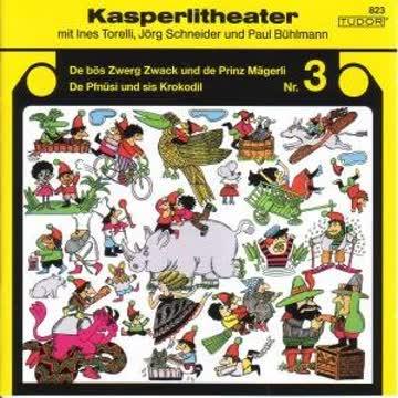 Kasperlitheater 3, Zwack+Mägerli-Pfnüsi+Kroko. [Musikkassette]