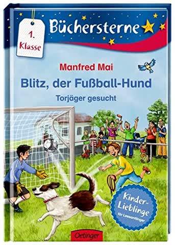 Blitz, der Fußballhund. Torjäger gesucht