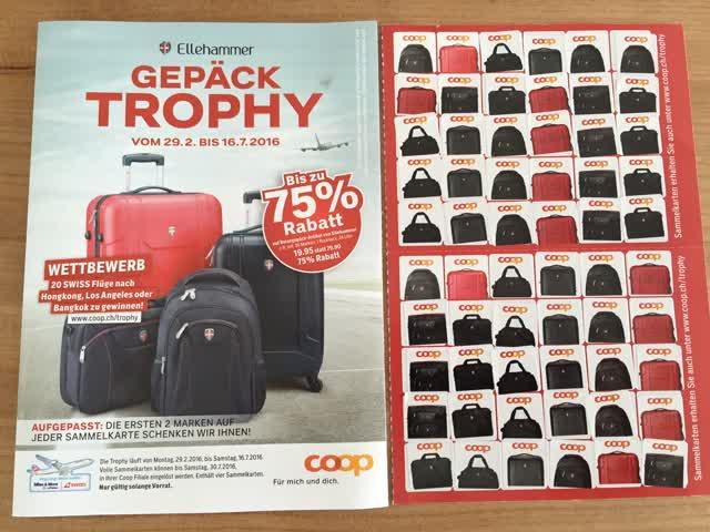 Coop - Gepäck-Trophy 2016 - Sammelmarken günstig gebraucht