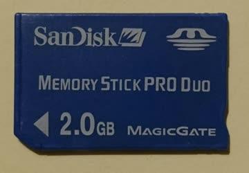 San Disk Memory Stick Pro Duo 2.0 GB