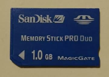 San Disk Memory Stick Pro Duo 1.0 GB